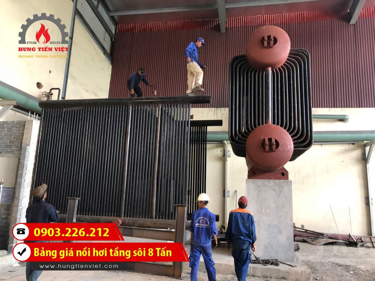 Nồi hơi tầng sôi 8 tấn