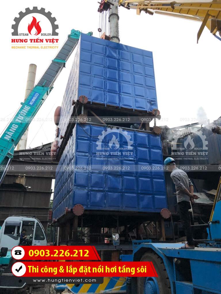 Công ty Hưng Tiến Việt - Kỹ sư và thợ thi công đang triển khai dự án thi công & lắp đặt nồi hơi tầng sôi tại Bình Dương. ☎ 0903.226.212 #noihoitangsoi #lohoitangsoi #noihoi #lohoi