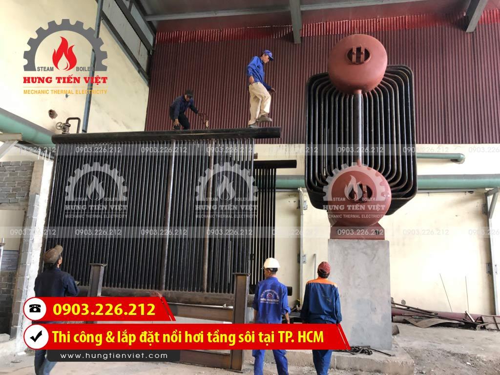 Công ty Hưng Tiến Việt - Kỹ sư và thợ thi công đang triển khai dự án thi công & lắp đặt nồi hơi tầng sôi tại Quận 12, TP. HCM. ☎ 0903.226.212 #noihoitangsoi #lohoitangsoi #noihoi #lohoi