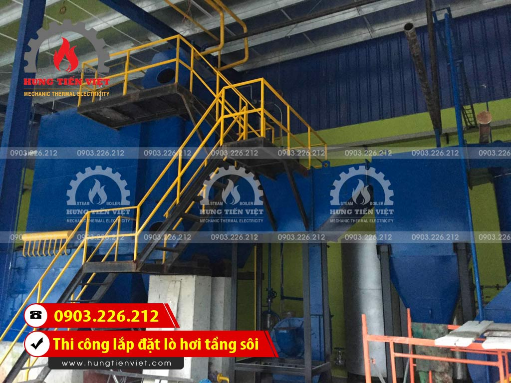Công ty Hưng Tiến Việt - Kỹ sư và thợ thi công đang triển khai dự án thi công & lắp đặt lò hơi tầng sôi tại Huyện Thống Nhất, Đồng Nai. ☎ 0903.226.212 #noihoitangsoi #lohoitangsoi #noihoi #lohoi