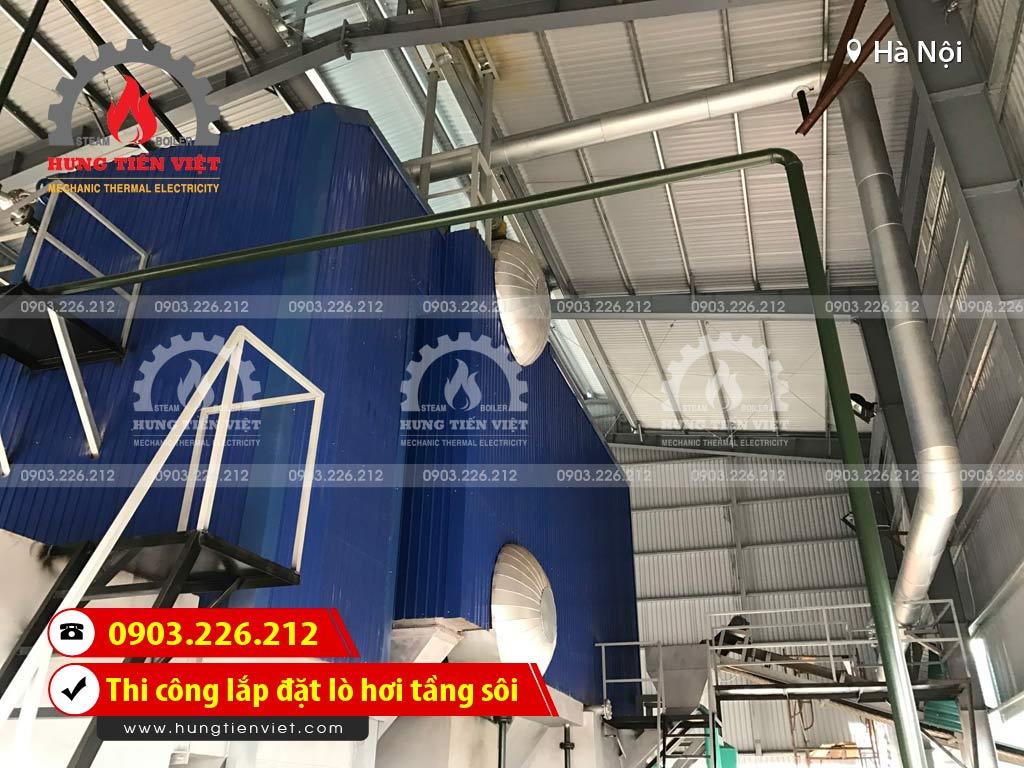 Công ty Hưng Tiến Việt - Kỹ sư và thợ thi công đang triển khai dự án thi công & lắp đặt lò hơi tầng sôi tại huyện Thường Tín, Hà Nội. ☎ 0903.226.212 #noihoitangsoi #lohoitangsoi #noihoi #lohoi