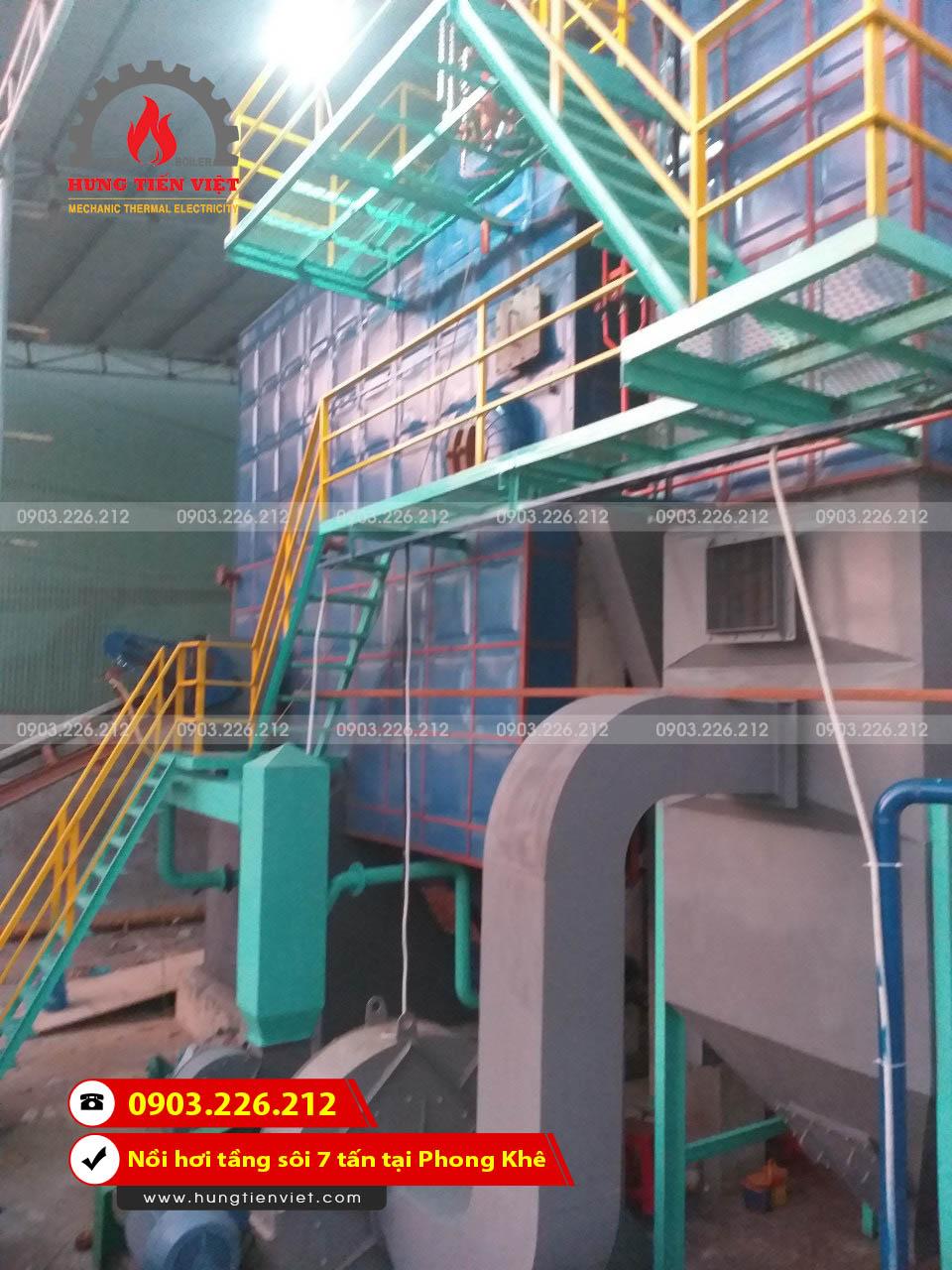 Hưng Tiến Việt - Thiết kế chế tạo và lắp đặt nồi hơi với công suất thiết kế là 7.000 kg hơi/h tại phường Phong Khê, Bắc Ninh ☎ 0903.226.212 #noihoitangsoi #lohoitangsoi #noihoi #lohoi