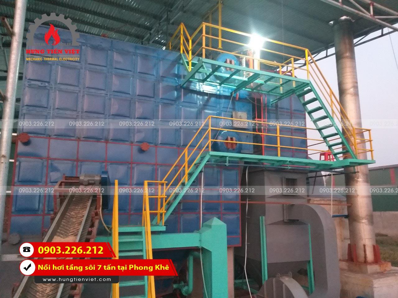 Dự án nồi hơi tầng sôi 7 tấn phường Phong Khê, Bắc Ninh