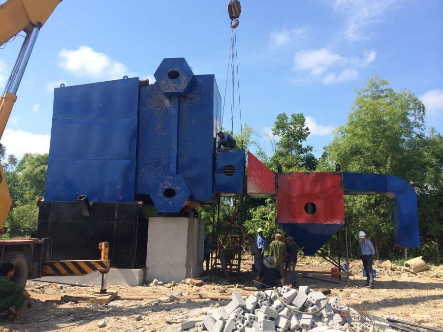 Dự án nồi hơi tầng sôi 8 tấn thị trấn Lam Sơn, Thanh Hóa